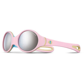 Julbo Baby 2-4Y Loop Spectron 4 Sunglasses Pink/Sky Blue/Beige-Gray Flash Silver